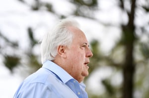 Clive Palmer is seen during a press conference on the Gold Coast, Monday, March 23, 2020.