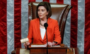 Pelosi, presiding over the vote, called it a 'solemn occasion' but said it was a necessary 'step forward' to establish the framework for the open hearings.