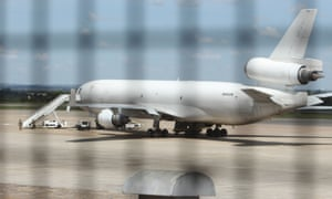 This US-registered cargo plane was impounded at Harare after a dead body was found on board.