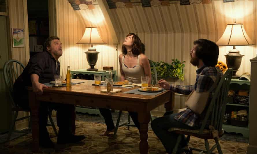 Things go bump … John Goodman, Mary Elizabeth Winstead and John Gallagher Jr in 10 Cloverfield Lane.