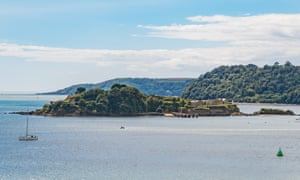 Drake's Island in Plymouth Sound, which has opened to visitors for the first time in 30 years.