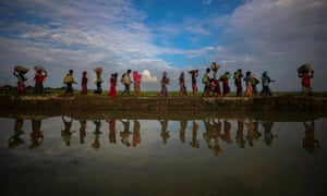 The Rohingya have been escaping a violent military crackdown in Myanmar.