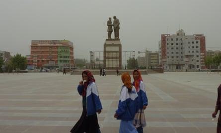 The city of Hotan in Xinjiang in 2010