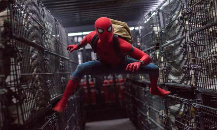Slickness and soul ... Tom Holland as Spider-Man.
