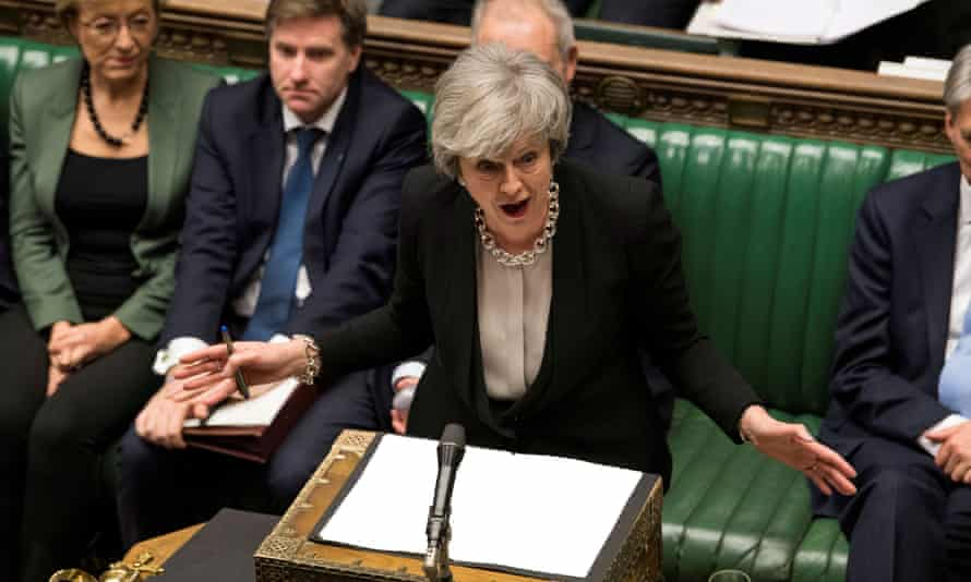 Theresa May speaking in parliament in January 2019.