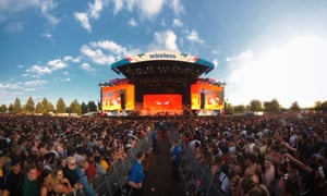 The main stage at the Wireless festival
