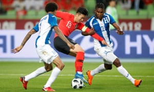 Son Heung-min takes on Honduras. He is said to have a 'strong will to compete in the Asian Games', which start in August.