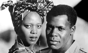 With Danny Glover in Mandela (1987).