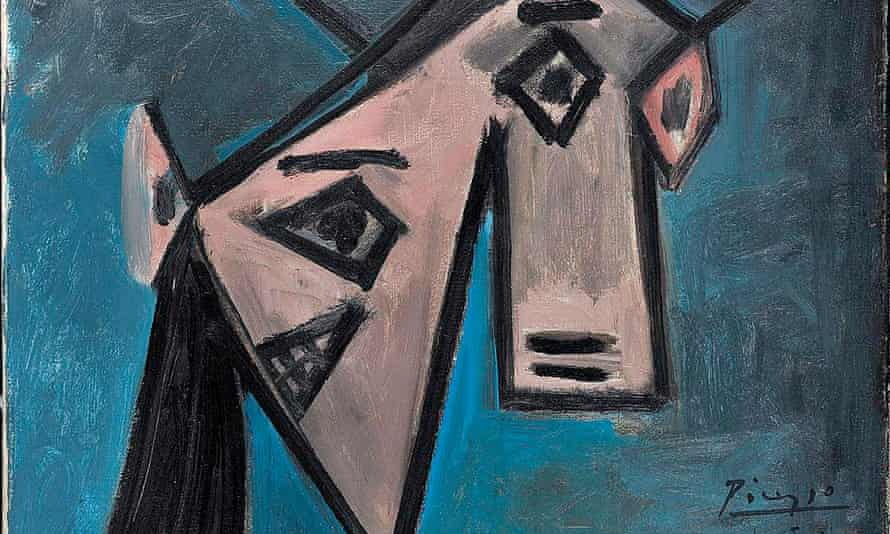 A detail of the 1939 female bust by Pablo Picasso