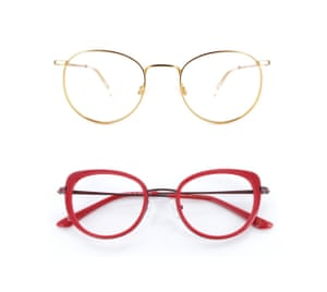 Mad About Specs Dwight Large, £80 and Nina (red), £90, madaboutspecs.co.uk