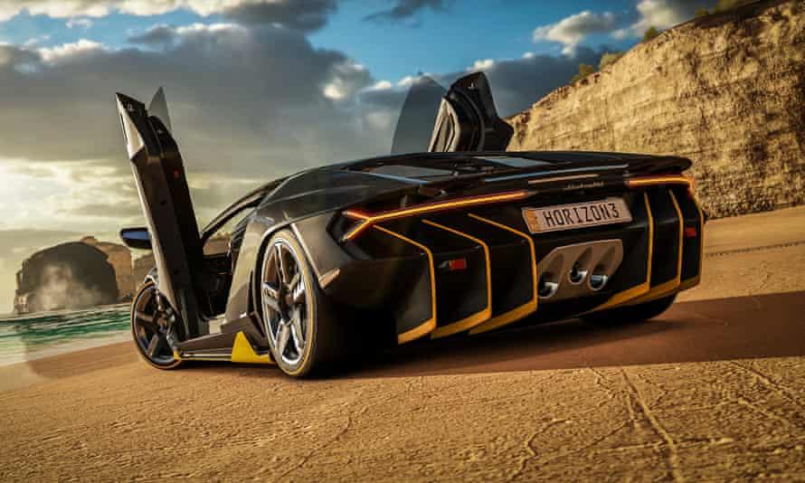 Forza Horizon 3 Lamborghini on Beach
