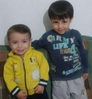 Alan Kurdi and his older brother, Galip.