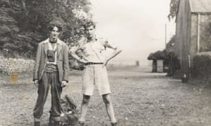 Neville Drasdo, left, with with his friend Mike Dixon before setting off on a climb in Skye when they were teenagers