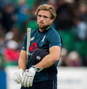 David Willey is the man to miss out.