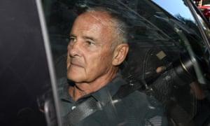 Chris Dawson is taken to Sydney Police Centre