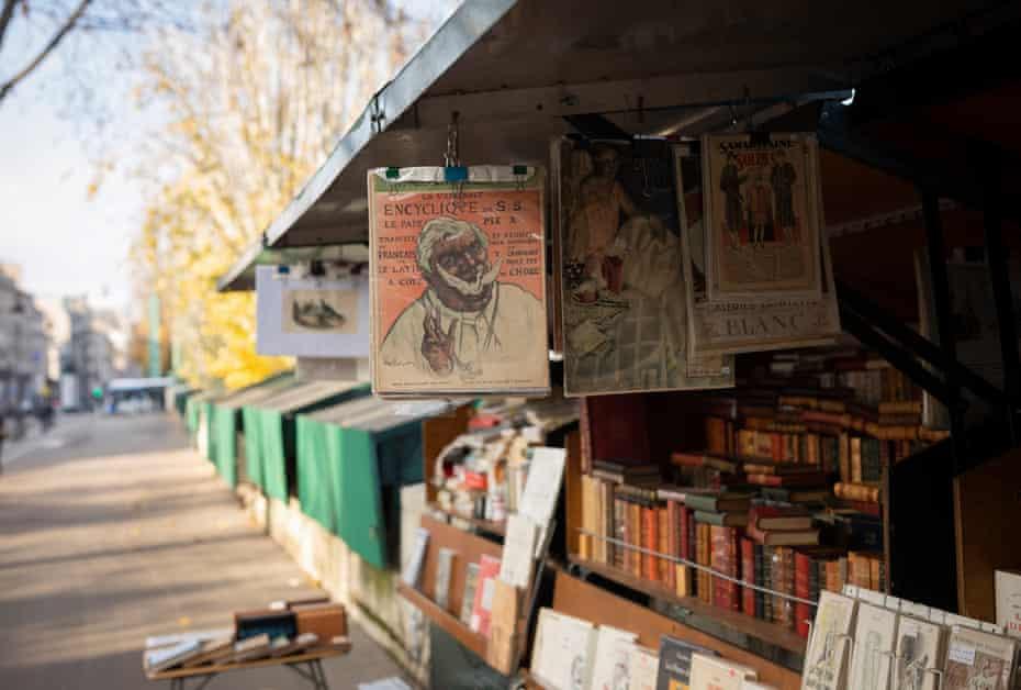 Book stalls along the river Seine in Paris