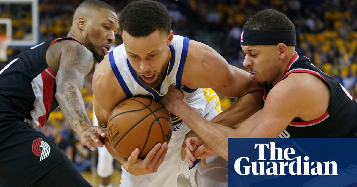 cce7f501cfd0 Warriors thrash  terrible  Blazers in NBA Western Conference finals opener