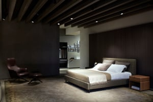 A bed designed by Vincent Van Duysen, made by Molteni&C.