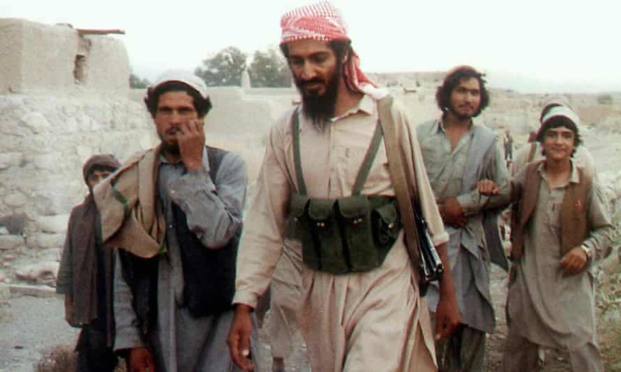 Bin Laden in Kabul during the Soviet-Afghan war.