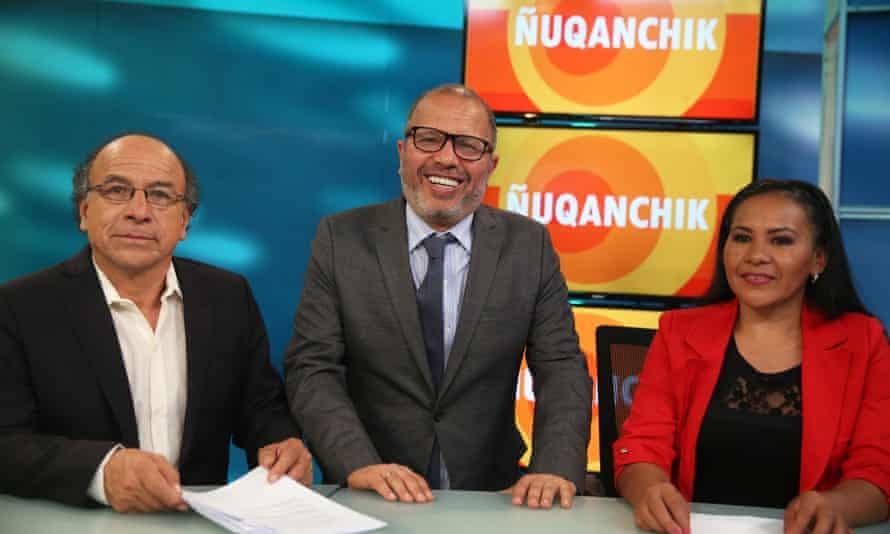 Co-presenter Marisol Mena, right, said Monday's debut broadcast was a 'historic achievement'.