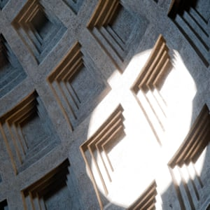 Sunlight on the concrete dome of the Pantheon.