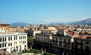 Panoramic view on Palermo from the Cathedral's roof.
