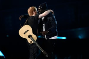 Ed Sheeran and Stormzy perform onstage