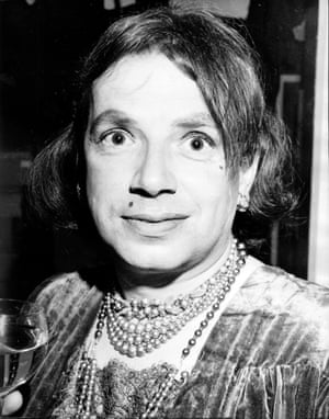 The celebrated jazz singer and writer George Melly wearing drag at the club during the 1960s.