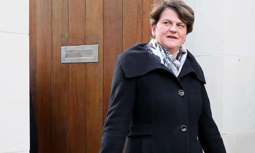 DUP leader Arlene Foster. Support from her party is critical if Theresa May is to get her deal through parliament.