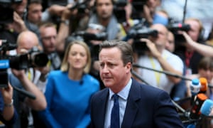 Prime Minister David Cameron arrives at European Council meeting in Brussels, Belgium for the first time since the British EU referendum