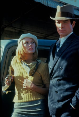Faye Dunaway and Warren Beatty in Bonnie And Clyde, 1967.