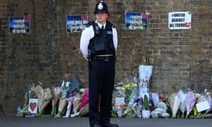 The scene of Darren Osborne's attack at Finsbury Park.