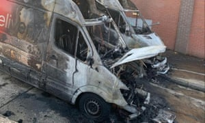 Two Iceland delivery vans destroyed in arson attacks in Bristol