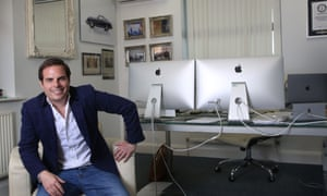 Property developer Mark Homer at his office in Peterborough.