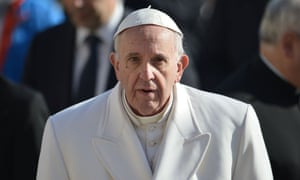 Pope Francis has told how he came under fire from Angela Merkel for implying Europe had become a 'barren woman'.
