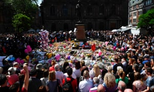 Minute's silence, St Ann's Square, central Manchester