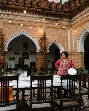 Asma Khan filming Chef's Table.