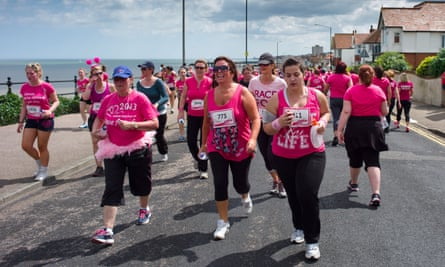 Women participating in Race for Life