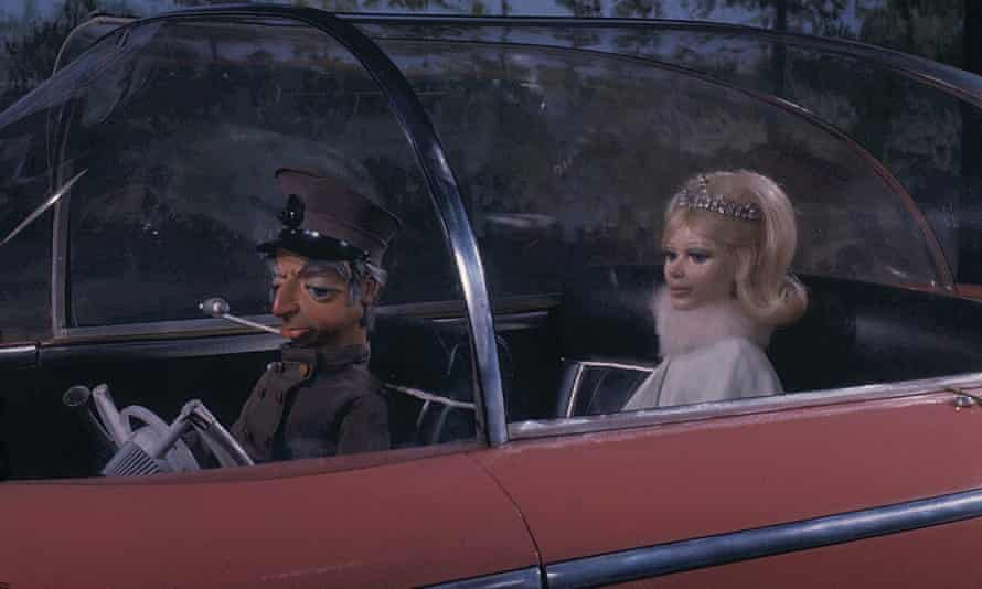 'They think we're either cockneys or posh ladies in stately homes. OK, that's what we'll give them': Lady Penelope, chauffeured by Parker, in a 1965 scene from Thunderbirds, co-created by Sylvia Anderson.