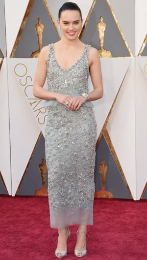 Actor Daisy Ridley has gone for Chanel, which is the sartorial equivalent of wearing a life jacket. It's a safety move.