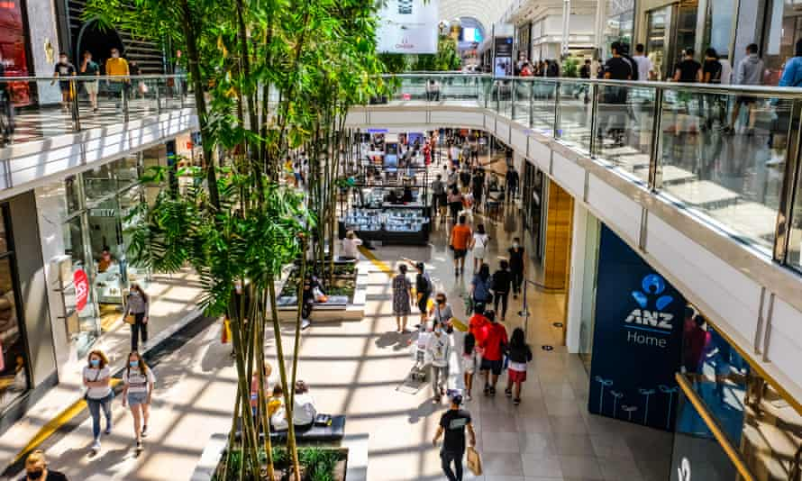 Shoppers at Chadstone shopping centre in Melbourne, Australia