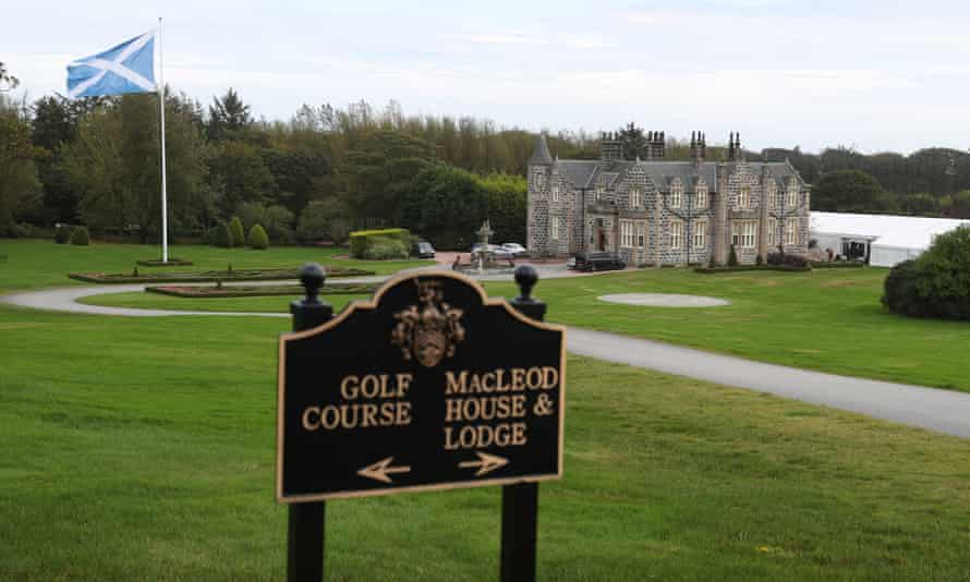 The new luxury homes will be built close to the Trump golf course in Balmedie.