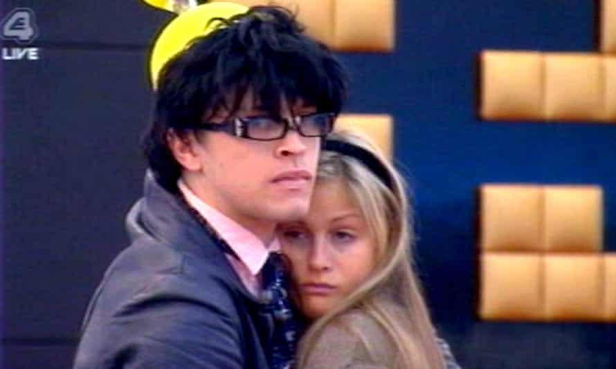Pete Bennett with Nicki Grahame on Big Brother