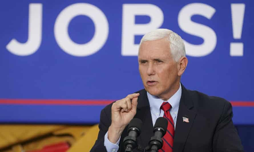 Mike Pence speaks at a campaign event in Exeter, Pennsylvania.