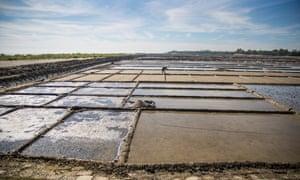 Flooded salt fields on the island of Kutubdia