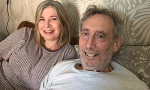 Emma-Louise Williams and Michael Rosen at home.