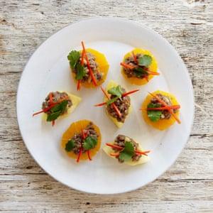 Kay Plunkett-Hogge's pork with pineapple and orange