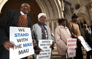 Kenyans protesting in London in 2011 over the Mau Mau uprising