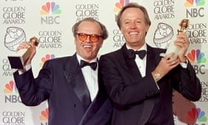Jack Nicholson and Peter Fonda hold their Golden Globe awards for best actor at the 55th Annual Golden Globe Awards in Beverly Hills on 18 January 1998. Nicholson won his award in the Comedy or Musical category for his role in As Good As It Gets and Fonda for his role in the drama category for his role in Ulee's Gold