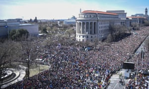 The March for Our Lives processes along Pennsylvania Avenue in Washington.
